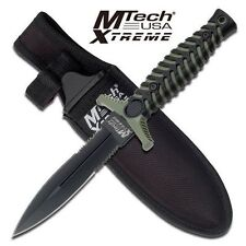 MTech Xtreme Tactical Boot Knife Fixed Blade Double Edge 440C Dagger w/ Sheath