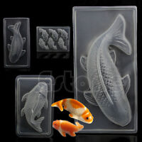 3D Koi Fish Plastic Cake Chocolate Mould Jelly Handmade Sugarcraft Mold DIY