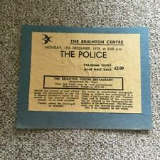 More details for the police ticket brighton centre 17/12/79   taken from scrapbook