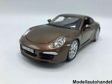 Burago - Porsche 911 (991) Carrera S metallic-braun - 1:24 Bburago