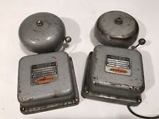 "(2) Faraday  Rescue School Bells Fire Alarm Home Office Rescue Smoke 4"" #354"