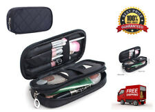 Makeup Brush Bags Travel Kit Pouch Organizer Cosmetic Bag Pencil Case w/ Mirror