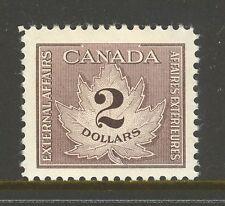 Canada #Fcf4, 1949-1971 $2 Maple Leaf - Consular Fee Revenue Stamp, Unused Nh