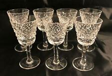 Waterford Crystal ALANA Set of 7 Liqueur Cordial GLASSES Free Shipping!
