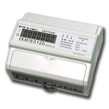 LCD Drehstromzähler geeicht für Hutschiene + S0  3x230/400V  5(100)A Stromzähler