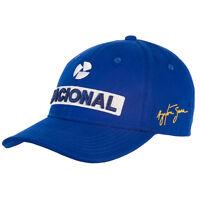 Ayrton Senna F1 Nacional Sponsor Baseball Cap Hat Blue MENS - New OFFICIAL