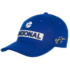 OFFICIAL F1 Ayrton Senna Nacional Sponsor Baseball Cap Hat Blue MENS - NEW