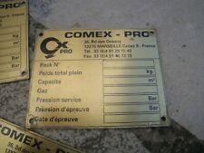 1 x Comex Pro plaque signalétique neuve