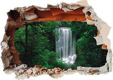 Waterfall 01 Hole in Wall - Natural Mural 3D Printed Vinyl Sticker Decal Decor