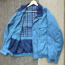 MENS BARACUTA VINTAGE HARRINGTON CHECK LINED JACKET SIZE LARGE TEAL COAT BOMBER