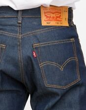 New Levi's Mens 501 0000 Straight Button Fly Shrink-To-Fit Denim Jeans 33 X 35