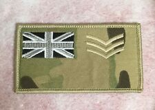 MTP Army Subdued Zap Number Blood Rank Badge LCPL CPL SGT STAFF WO1 WO2 Officers