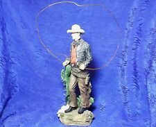 Cowboy With A Rope By Cactus figurine