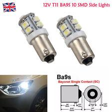 12V T11 BA9S 10 SMD LED luces laterales interiores coche auto Cuña Bombilla T4W 233