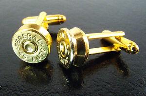 45 Auto Bullet Cufflinks Cuff Links w/ Federal Headstamp