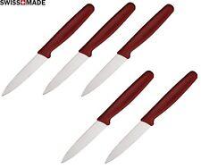 5 LOT Victorinox Kitchen Steak Paring Knife 3 ¼ Stainless Steel Blade Red Handle