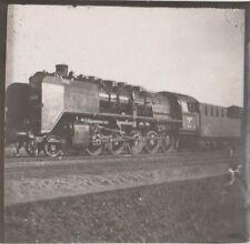 orig.foto ca.5x5 cm ANCIENNE TENDER Locomotive à vapeur avec du Conducteur Train