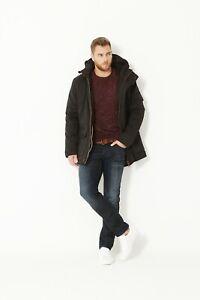 Men's BLACK Water Resistant Fur Lined Vintage Winter Parka