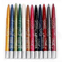 12 PCS Colorized Eyeliner Eyeshadow Lipliner Pen 12 Colors Make Up Tools Set