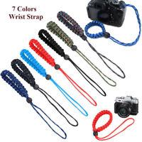 7 Colors Lanyard Hand Wrist Strap Rope Universal Adjustable Camera Wrist Strap