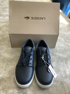 Lacoste Mens Shoes Casual Navy BRAND NEW
