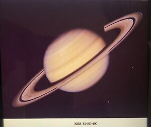 VINTAGE NASA 4 x 5 SLIDE TRANSPARENCY - Photo of Saturn