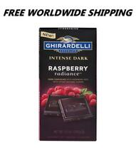 Ghirardelli Intense Dark Raspberry Radiance Chocolate 3.5 Oz FREE WORLDWIDE SHIP