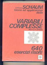 SPIEGEL : VARIABILI COMPLESSE - collana SCHAUM - ETAS - 1981