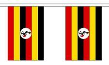 UGANDA 3 METRE BUNTING 10 FLAGS flag 3M UGANDAN AFRICA