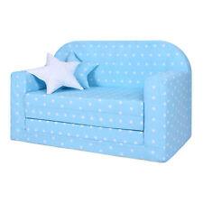 Lulando divano letto estraibile per Bambini Normal White Stars / Blue
