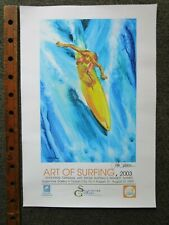 Vtg SIGNED Original John Severson Surfer ART OF SURFING Surf Poster