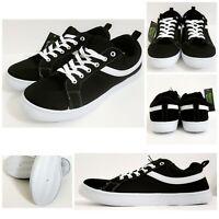 🆕 Men's Black & White Stripe Skater Shoes Skate Sneakers | OLD SKOOL Canvas NWT