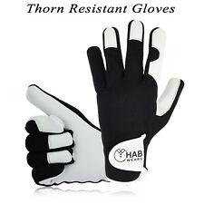 Ladies Women Girls Leather Gardening Gloves Thorn Proof Garden work gloves UK