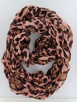 "Women's Fashion Pink Stylish Leopard Animal Print Infinity Scarf ( 37"" *70 "")"
