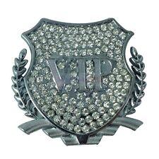 Luxury Crystal VIP Silver Metal Side Trunk Badge Emblem Sticker Cadillac Buick