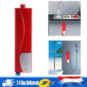 220V 3000W Chauffe-eau Chauffage Instantané Electrique Mitigeur Cuisine FR