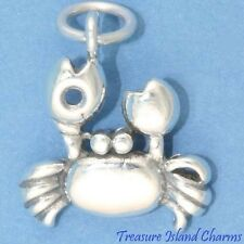 Crab Cancer Zodiac Sign .925 Sterling Silver Charm