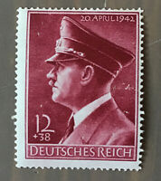 Germany Nazi 1942 Stamp MNH Hitler 53rd Birthday WWII Third Reich