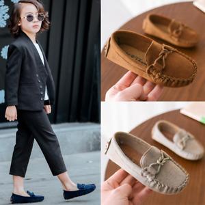 Boys Girls Slip On Loafer Toddler Walking Flats Comfort Boats Kids School Shoes