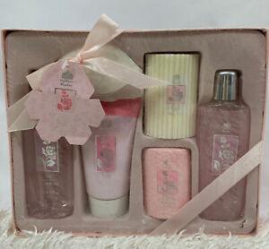 Women Vintage Edenfield England Rose Bath Toiletry Gift Set Box 6 Pieces