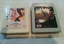 Styx - Pieces of Eight & Cornerstone 8-Track  Cartridge lot