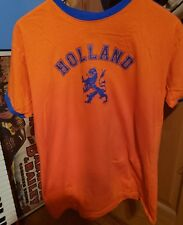 Vintage 80s Holland Soccer National Team T-shirt Mens Size M Rare 1983 Fox Brand