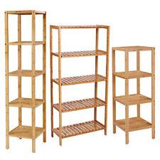 Standregal Badregal Küchenregal Wandregal Bücherregal Handtuchhalter Bambus
