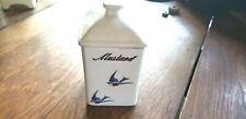 BLUEBIRD HULL POTTERY MUSTARD SPICE JAR WITH LID