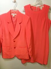 Stephanie Andrews Dress And Matching Jacket Suit 100% Silk Size 6