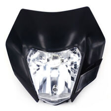 Black Headlight Headlamp Light Streetfighter Fairing Dirt Bike Motocross Enduro