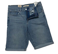 Levi's Shorts Women's Bermuda Shorts Blue Forever Light 29969-0019-Size W28