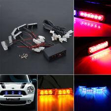 Car 6 Amber LED Flashing Grill Strobes Warning Lights Bar Recovery Breakdown 12V