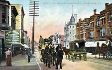Vancouver,B.C.Canada,Granville St.Looking North,Horse Drawn Wagons,c.1909