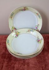 4 MEITO SOUP BOWLS ( 8 AVAIL) MEI419 JAPAN FLOWERS CREAM YELLOW BORDER FLORAL